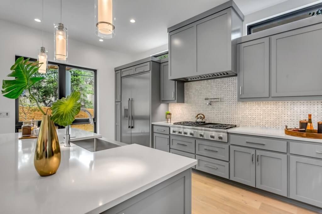 Grey kitchen design extension