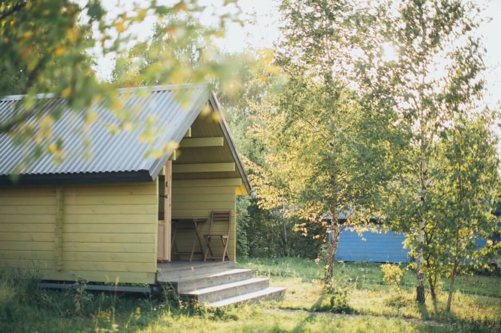 Wooden shed open concept