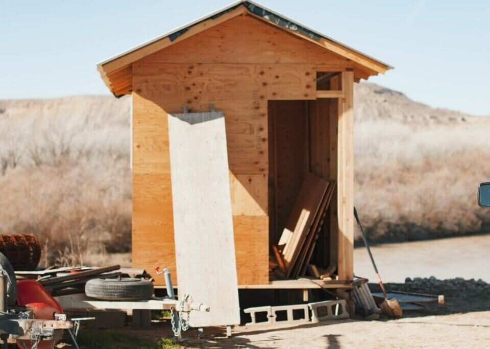 Idea Small Brown Wooden Shed