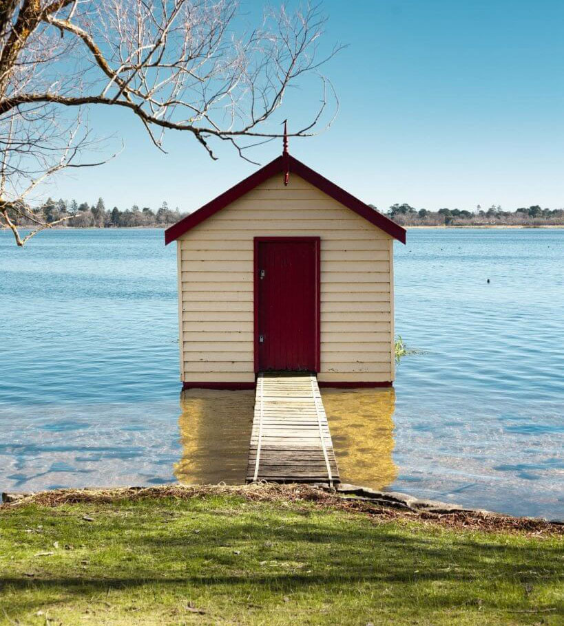 small shed on water idea